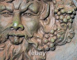 Wall Mounted Water Feature Zeus Fountain Garden Lights Bronze Finish 83cm
