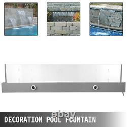 Water Blade Waterfall Fountain Spillway Water Sheet 36.2x3.2x8.1 Inch For Pool
