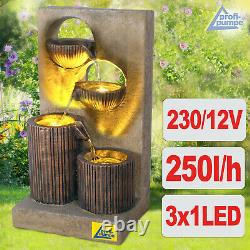 Water Feature Fountain Outdoor Indoor Gardens Fountain Set Kit Led Light