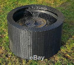 Water Feature Fountain Solar LED Lights Patio Garden Pond Decking Rattan