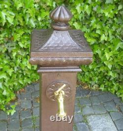 Water Spigot Pillar Fountain Die-Cast Garden Antique Nostalgia New