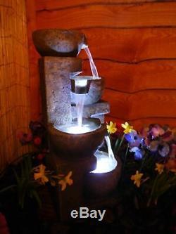 Water feature, Aztec Water Fountain, Garden Water Feature Solar powered