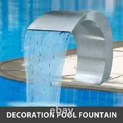 Waterfall Pool Fountain Stainless Steel Outdoor Garden Decor Ponds Water Feature