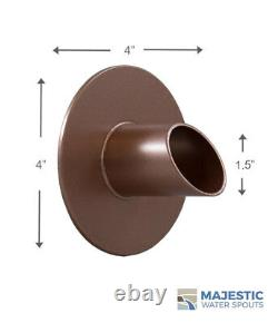 Waverly 1.5 Round Water Fountain Spout/scupper Copper