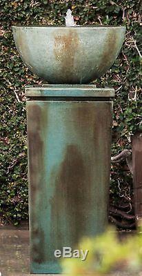 Zen Bowl Outdoor Garden Water Fountain, 51''H