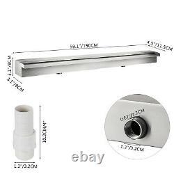1500mm Acier Inoxydable Rectangulaire Piscine Fountain Waterfall Water Blade Koi
