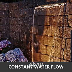 1500mm En Acier Inoxydable Piscine Rectangulaire Fontaine Chute D'eau Lame D'eau Koi