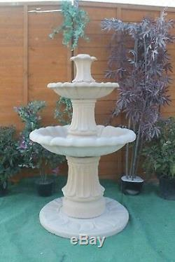 2 Caractéristiques Ornement De Fontaine D'eau De Jardin En Grès Teired