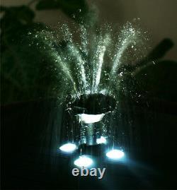 2 Niveau Birdbath Water Feature Fountain Solar Powered Stone Effect Garden