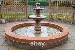 2 Niveaux Barcelona Autocontenu Jardin En Pierre Caractéristique Eau Fontaine Solaire Pompe