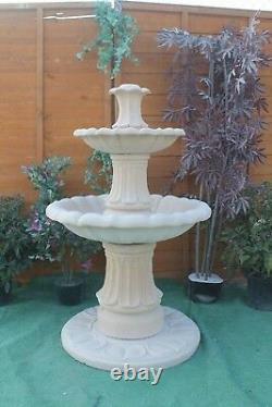 2 Teired Barcelona Grès Jardin Fontaine D'eau Caractéristique Ornement