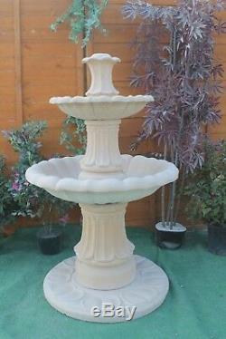 2 Teired Grès Ornement De Jardin Fontaine D'eau Caractéristiques