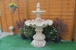 2 Teired Windsor Fontaine Grès Ornement De Jardin Fontaine D'eau Caractéristiques