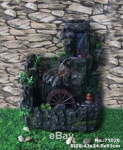 21 \ Feng Shui Ou Jardin D'eau Tabletop Fontaine Avec Roue De Course