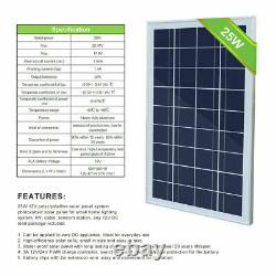 25w Solar Powered Panel Submersible Water Pump Solar Fountain, Garden Pond Pool