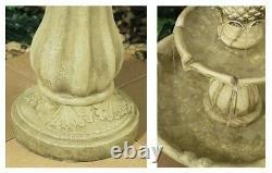 3 Niveau Fontaine D'eau Feature Cascade Classical White Ivory Stone Effect Garden