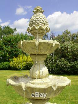 3 Niveaux D'eau Cascade Feature Classique Regal White Stone Effet Garden Fountain