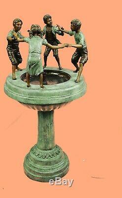 4 Pieds De Haut Bronzé Ornement Jardin Extérieur Eau Caractéristiques Fontaine Décor Vente Larg