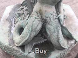 5 M Bronze Mermaid Fontaine D'eau Statue Sculpture Étang Lac Jardin Caractéristiques