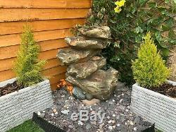 5 Niveau Bois Cascade Woodland Garden Eau Caractéristiques, Fontaine D'extérieur Great Value