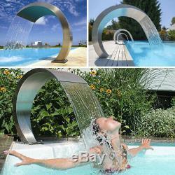 Acier Inoxydable Caractéristiques De L'eau Chute D'eau Fontaine Piscine Jardin Au