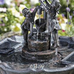 Affichage D'eau De Jardin De Fontaine D'oiseau De Caractéristique De L'eau De Jardin Actionné Solaire Autonome A Inclus