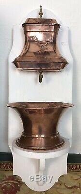 Antique Copper Français Fontaine Fontaine D'eau Lavabo