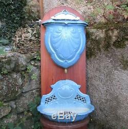 Antiquité 19ème Français Fonte Fonte Bassin Lavabo Réservoir D'eau