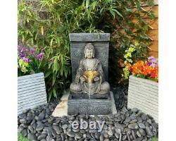 Anurak Oriental Water Feature, Fontaine Solaire Avec Lumières, Jardin