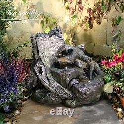 Ashridge Woodland Garden Eau Feature, Énergie Solaire Fontaine D'extérieur
