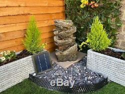 Automne Chutes Bois Énergie Solaire Équipement De Jardin D'eau, Fontaine D'extérieur