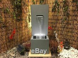 Automne Zinc Contemporain Jardin D'eau Caractéristiques, Énergie Solaire Fontaine D'extérieur