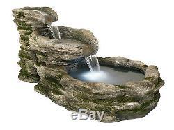 Bassin D'eau À 3 Niveaux Avec Cascade D'eau, Piscine, Effet De Jardin Intérieur