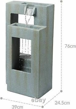 Ben Ross Double Cadres Fontaine Caractéristiques De L'eau Mains Operated Outdoor Garden