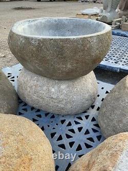 Birdbath Japonais Zen Garden Granite Bol D'eau Fontaine Bassin D'eau