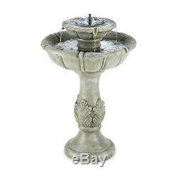Blumfeldt Fontaine D'eau 2 Niveau Rdj Pompe Solaire 200 L / H Look Béton