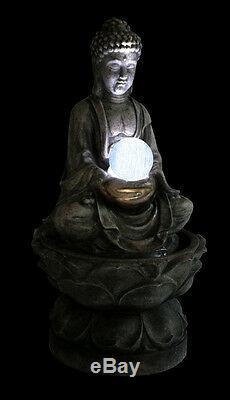 Bouddha Boule De Cristal Caractéristique De L'eau Fontaine Cascade Antique Effet Jardin De Granit
