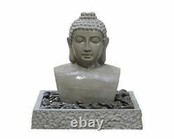 Bouddha De Lotus De Kelkay Avec La Fonction D'eau De Lumières, Conduites De Fontaine De Jardin