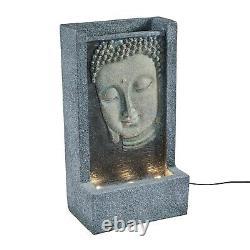 Bouddha Fontaine Led Jardin Caractéristiques De L'eau 49.5cm Plug In Intérieur Lumières4fun
