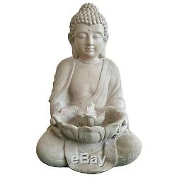 Bouddha Lotus Fontaine D'intérieur Ornement Eau Fonction Jardin Extérieur Cadeau