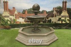 Brecon Pool Surround, Avec Edwardian Ball Garden Water Fountain Feature