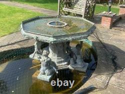 Bronze Eau Caractéristique Étang Fontaine Eau Jardin Caractéristique Sculpture Statue