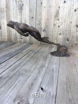 Bronze Grenouille Sauteuse Grenouille Bronze Fontaine Sculpture Bronze Grenouille Eau Caractéristique