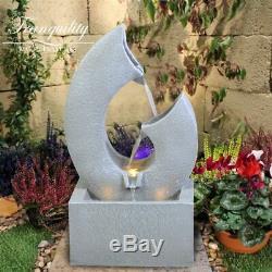 Calvo Contemproary Water Garden Feature, Énergie Solaire Fontaine D'extérieur