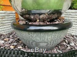Caractéristiques 40cms Sphère Inoxydable Jardin Eau, Fontaine D'extérieur Et Décoration Puisard