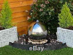 Caractéristiques 40cms Sphère Inoxydable Jardin Eau, Fontaine D'extérieur Great Value