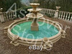 Caractéristiques De L'eau En Pierre Jardin Fontaine De Ashover Pierre
