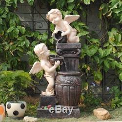 Caractéristiques De L'eau Fontaine Anges Haute 102cm, Jardin, Extérieur Led