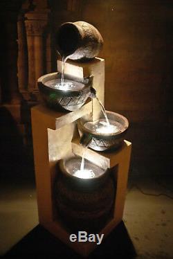 Caractéristiques De L'eau Fontaine Galice Pots, Haute 118cm, Jardin, Extérieur Led