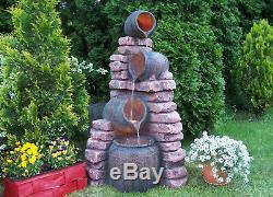 Caractéristiques De L'eau Fontaine Mur Et Casseroles, Haut 120cm, Jardin, Extérieur Led